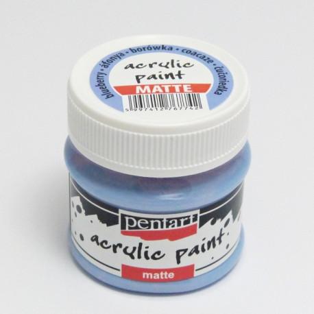 Akrylová barva Pentart 50ml - borůvková, matná