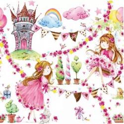 Pohádkové princezny 33x33