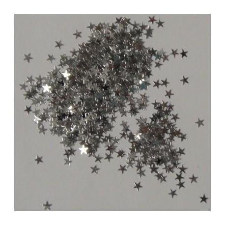 Dekorační glittery - hvězdičky stříbrné