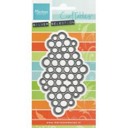 Vyřezávací šablona - Textura kruhy (MD)