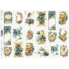 Papír soft A4 Velikonoční, obálky s pomněnkami, ptáčci