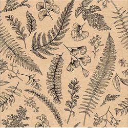 Listy na sépiové 33x33
