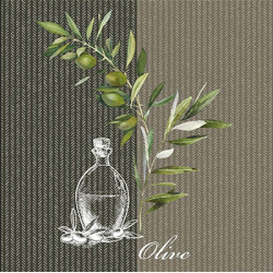 Olej a větvička olivy 33x33