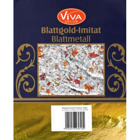 Imitát plátkového zlata - vločky stříbrné (F)