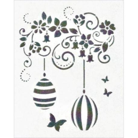 Šablona - Velikonoční závěs s vajíčky (F)