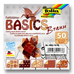 Origami papírky 10x10 Basic hnědý
