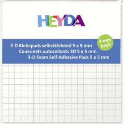 3D čtverečky samolepicí 5x5x3mm (HEYDA)