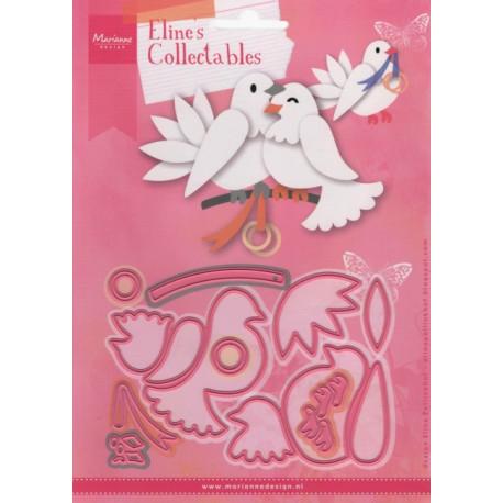 Vyřezávací šablony - Svatební holubice (MD)