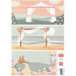 Papír A4 na pozadí, svatební (MD)