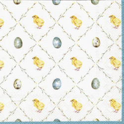 Kuřátka a vajíčka v kosočtvercích 33x33