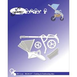 Vyřezávací šablony - sportovní dětský kočárek