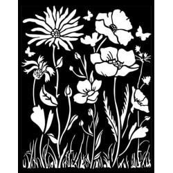 Šablona 3D 20x25 - Atelier, vlčí máky, květiny (KSTD072)