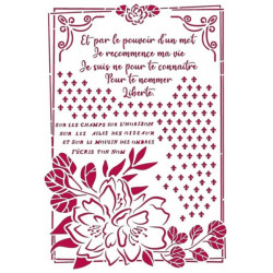 Šablona - Romantic Journal, květ v rámečku A4 (KSG457)