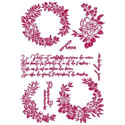 Šablona - Romantic Journal, girlandy A4 (KSG461)