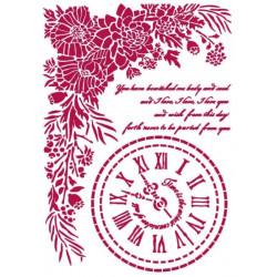 Šablona - Romantic Journal, hodiny A4 (KSG465)