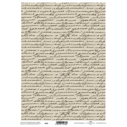 Pergamen pro scrapbook 112g - písmo na sépiové