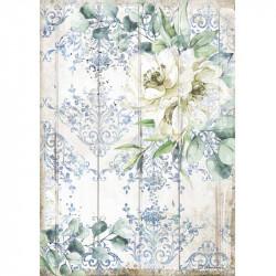 Papír rýžový A4 Sea Dreams, tapeta a bílé květy