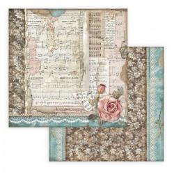 Passion, noty a růže 30,5x30,5 scrapbook