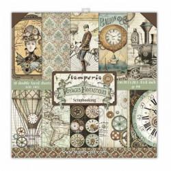 Sada papírů 20,3x20,3 190g Voyages Fantastiques