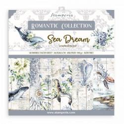 Sada papírů 20,3x20,3 190g Romantic Collection Sea Dream