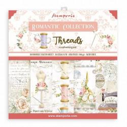 Sada papírů 20,3x20,3 190g Romantic Collection Threads