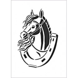 Šablona A4 - kůň v podkově (F)