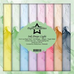 Sada papírů 15x15 Ink Drops Light (PF)