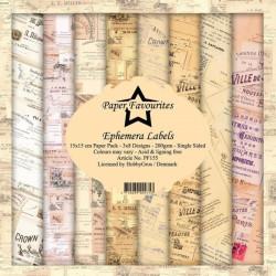 Sada papírů 15x15 Ephemera Labels (PF)