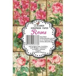 Sada scrap.kartiček 7x10,8cm - Roses (Decorer)