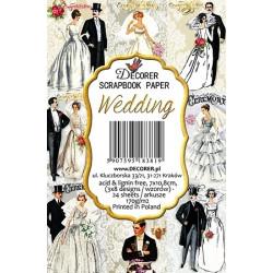 Sada scrap.kartiček 7x10,8cm - Wedding (Decorer)
