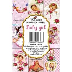 Sada scrap.kartiček 7x10,8cm - Baby girl (Decorer)