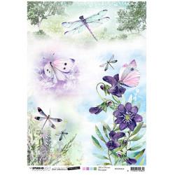 Papír rýžový A4 Butterflies & dragonflies Time to Relax 2.0 nr.36 (SL)