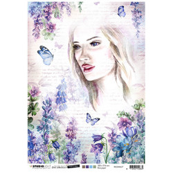 Papír rýžový A4 Woman & butterflies Time to Relax 2.0 nr.37 (SL)