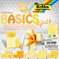Origami papírky 15x15 Basic žlutý