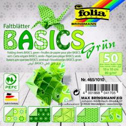Origami papírky 15x15 Basic zelený