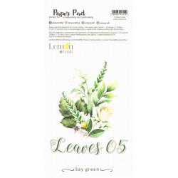 Sada papírů 15,24x30,5cm Leaves 05 (LC)