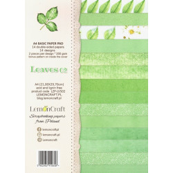 Sada papírů na pozadí A4 Leaves 02 (LC)