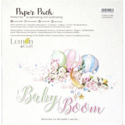 Sada papírů 30,5x30,5 Baby Boom+ bonus (LC)