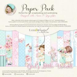 Sada papírů 30,5x30,5 Girl's Little World + bonus (LC)