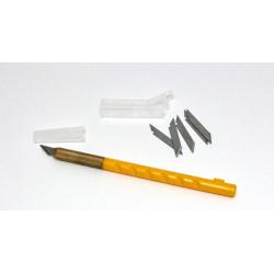 Řezací nůž s krytkou a 5ks náhradních břitů (Nellie´s Choice)