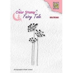 Transp.razítko - elfí květy anděliky (Nellie´s Choice)
