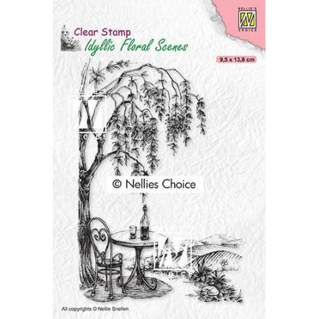 Transp.razítko Idylická scéna - Posezení pod stromem (Nellie´s Choice)