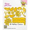 Vyřezávací šablony - květinový koš (Nellie´s Choice)