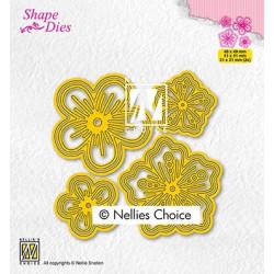 Vyřezávací šablony - set květin (Nellie´s Choice)
