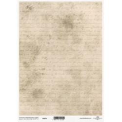 Pergamen pro scrapbook 112g - písmo na starém papíře