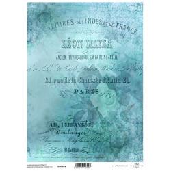 Papír pro scrapbook 200g A4 - vintage, písmo, růže