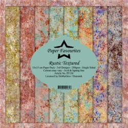Sada papírů 15x15 Rustic Textured (PF)