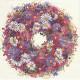 Věnec z barevných květů 33x33