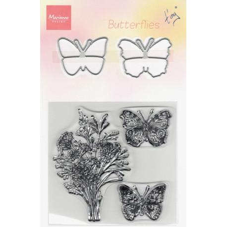 Vyřezávacích šablon a razítek - Motýli (MD)