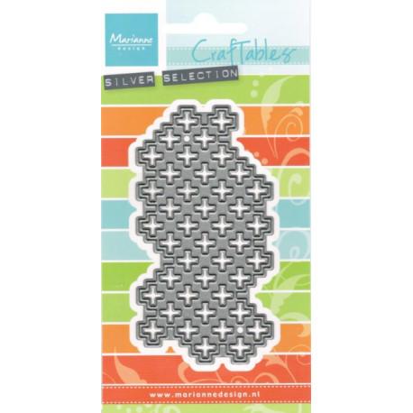 Vyřezávací šablona - Textura křížky (MD)